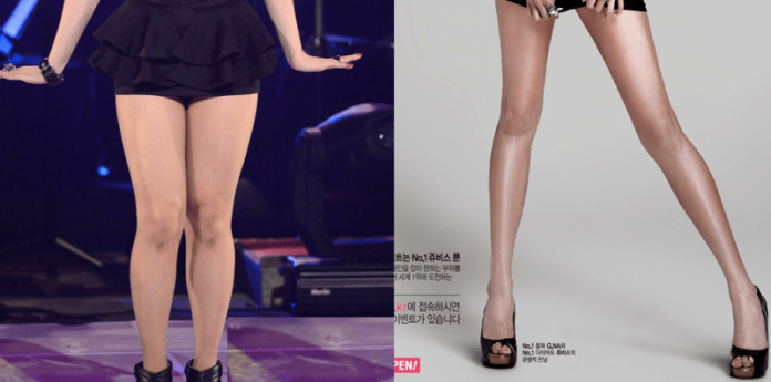 Почему у карейских девушках стройные ноги
