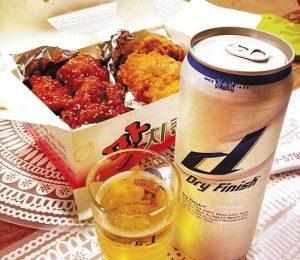 チキンとビール