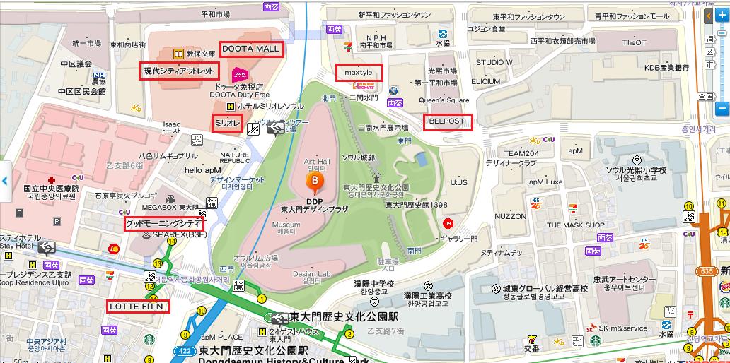 東大門マップ