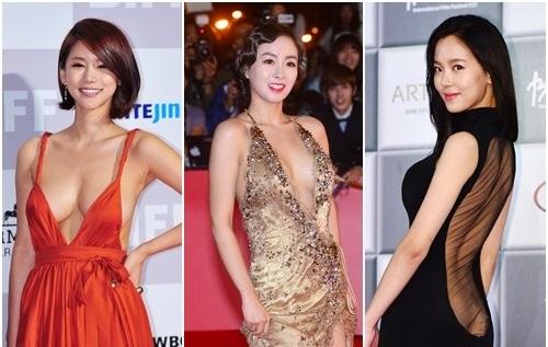 レッドカーペットに登場した韓国女優のドレス!露出度高くてセクシーすぎ?
